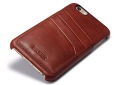 iCarer iPhone 6 Plus Baroque Vintage Back Cover Series Genuine Leather Case Iphone 8 Cases, Iphone 6, Leather Cover, Leather Working, Cowhide Leather, Vintage Leather, 6s Plus, Baroque, Zip Around Wallet