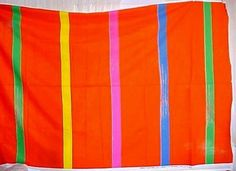 "Vintage 1981 Marimekko Fujiwo Ishimoto ""RAJU"" 100% Cotton Fabric Panel/Yardage. Raju, in Finnish, can mean boisterous, fierce, violent as in severe motion."