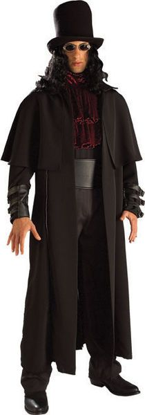 Vampire Lord Adult Description: This dashing demon is on the hunt. The CovenantT Vampire Lord costume includes a long black coat with buckle sleeve Costume Halloween, Halloween Fancy Dress, Halloween Tricks, Adult Halloween, Spooky Halloween, Happy Halloween, Halloween Party, Costumes For Teens, Adult Costumes