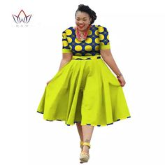 Plus Size Clothing 2018 summer Dress African Print  Dress Dashiki For Women Bazin Riche Vestidos Femme Dress Plus Size BRW WY733