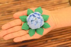 paper lotus made small and from crepe paper