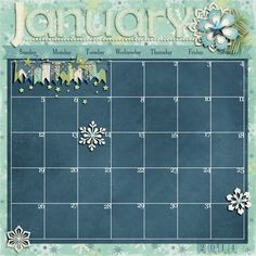 Blue Christmas: COLLECTION by Studio Flergs http://www.sweetshoppedesigns.com/sw...t=0&page=1  2014 Calendar Templates by Scrapping with Liz