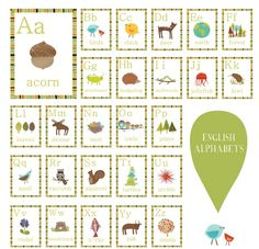 Children Inspire Design Eco Friendly Alphabet Wall Cards- $32