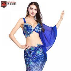 7c59d92a90e0d Women Belly Dance Dancewear Belly Dancing Clothes Oriental Dance Outfits  Bra+Long Skir 2 PCS Set