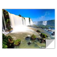 ArtApeelz 'Iguassu Falls 3' by Cody York Photographic Print Removable Wall Decal