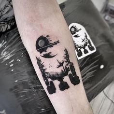War Tattoo, Star Wars Tattoo, Wolf Tattoo Sleeve, Forearm Tattoo Men, Life Tattoos, Tattoos For Guys, Zelda Tattoo, Explore Tattoo, Gaming Tattoo