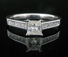 0.57ct Princess Cut Diamond Set Ring. - Geeves Jewellers - suppliers of watches and jewellery, London