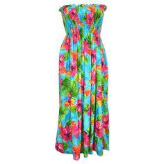hoopla blue hawaiian maxi dress
