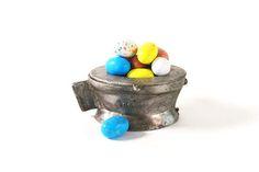 Basket Pewter Mold Vintage Ice Cream Mold Easter Basket