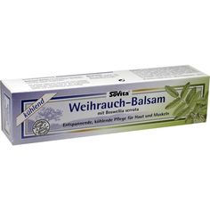 WEIHRAUCH BALSAM in einer Tube:   Packungsinhalt: 100 ml Balsam PZN: 09520770 Hersteller: ALLPHARM Vertriebs GmbH Preis: 9,57 EUR inkl.…