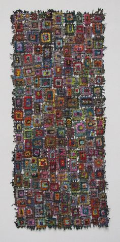 "Susan Lenz, ""In Box LIV"", velvet & chiffon, machine-stitched, 2009"