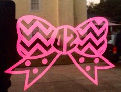 Delta Zeta Chevron Bow Decal by PCDrDesigns on Etsy, $12.00