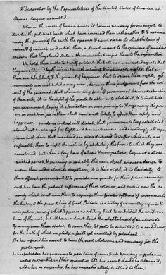 Thomas Jefferson's rough draft of the Declaration of Independence