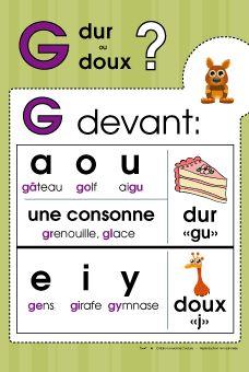 règle de graphie contextuelle la lettre g