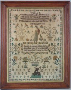 1821 Silkwork Sampler by Sarah Raynor