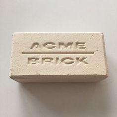 Vintage White Acme Brick Salesman Sample Paperweight | eBay