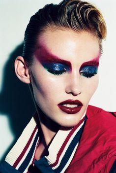 Ideas fashion show makeup make up eyes Drag Makeup, Makeup Art, Beauty Makeup, Eye Makeup, Glam Rock Makeup, 80s Glam Rock, Fairy Makeup, Mermaid Makeup, Makeup Style