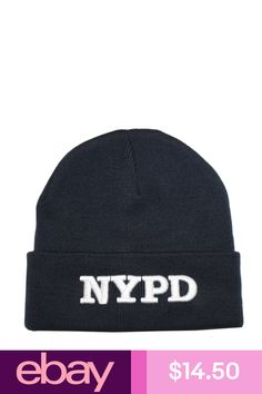 Nypd winter beanie knit cap hat new york official licensed embroidered navy  blue c9d2094868e9