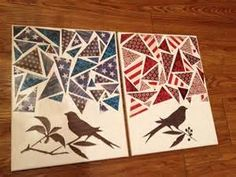 DIY canvas art using scrapbook paper | Crafts