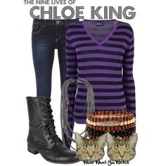 """The Nine Lives of Chloe King"" by kerogenki on Polyvore"