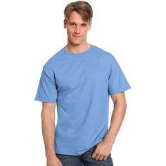 Hanes Big Men's Tagless Short Sleeve Tee, Size: 4XL, Blue