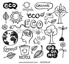 Find Eco Organic Doodles Icons Ecology Sustainable stock images in HD and millions of other royalty-free stock photos, illustrations and vectors in the Shutterstock collection. Science Doodles, Science Art, Doodle Icon, Doodle Art, Doodle Ideas, Free Vector Graphics, Free Vector Art, Sketch Notes, Cute Doodles