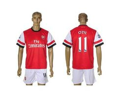 Hot sale 2013-14 home kit Arsenal 11 every 14 walcott training soccer uniform sets free shipping with short sleeves