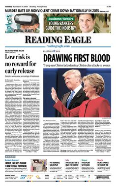 Today's front page. Sept. 27, 2016