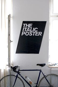 "Well, technically, this should say ""the oblique poster,"" but it's still an awesome poster :)"