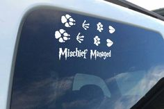 Mischief Managed Harry Potter inspired vinyl decal sticker for laptop or window by SewCalledLifeStore on Etsy https://www.etsy.com/listing/264300256/mischief-managed-harry-potter-inspired