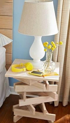 DIY Stacked Nightstand /  12 Cool Wood Projects