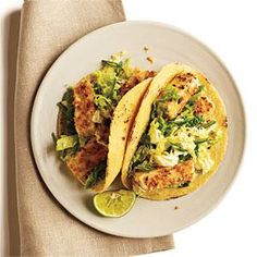Peanut-Crusted Tofu Tacos with Tangy Slaw | MyRecipes.com