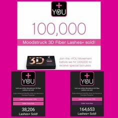 126,447 mascaras have been sold since the Enhanced 3D Fiber Lashes+  launched at midnight. And that's just the mascara. It's not to late to be apart of this Amazing Company!! Message me for details. Www.beyouniquelyyoubytoya.com