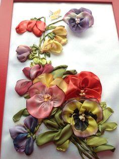 Luty Artes Crochet: Flores bordados em fitas.