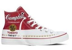 Converse Chuck Taylor All Star Hi Andy Warhol Campbells Tomato Soup Sneakers New Converse All Star, Converse Chuck Taylor All Star, Chuck Taylor Sneakers, Andy Warhol, Chuck Taylors, Converse Trainers, Converse Shoes, Women's Shoes, New Sneakers