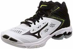 5dfe1f113e Advertisement(eBay) Mizuno Volleyball Shoes Wave Lightning Z5 Mid V1Ga1905  White Us8.526.5