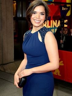 Star Tracks: Thursday, February 13, 2014   SAY CHEESE   America Ferrera takes a break from Fashion Week to glam it up at the Cesar Chavez premiere at the Berlin International Film Festival in Germany on Wednesday.