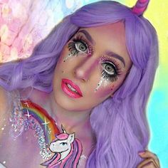 Mystical Unicorn Makeup Idea for Halloween