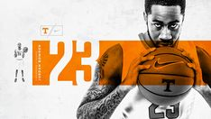 University of Tennessee Men's Basketball Sports Graphic Design, Graphic Design Posters, Graphic Design Inspiration, Photoshop Projects, Photoshop Design, Yearbook Sports Spreads, Typography Poster Design, Sports Graphics, Print Layout