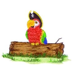 Pirate Parrot, Pirates, Embroidery Designs, Christmas Ornaments, Holiday Decor, Book, Sweet, Animals, Art