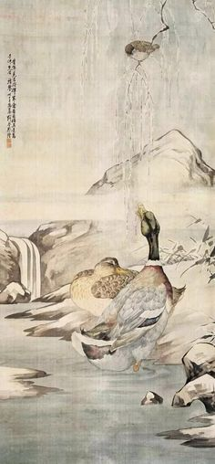 #mandarinduckpainting #chinesegongbimandarinduck #sumiebrushpainting