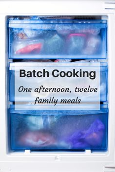 Batch Cooking - one afternoon, twelve family meals!  Revolutionise your meal planning with some batch cooking!