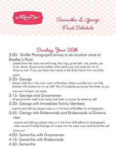 Excellent wedding photographer tips!