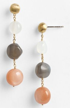 Marco Bicego 'Africa Day' Triple Drop Moonstone Earrings (Nordstrom Exclusive) available at #Nordstrom