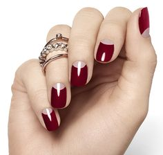 Дизайн ногтей осень-зима 2015. Лунный дизайн ногтей. Фото.
