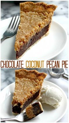 The BEST Chocolate Coconut Pecan Pie you'll ever sink your teeth into! A must make for any chocolate lover!