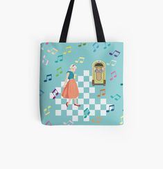 Designer Totes, Iphone Wallet, Jukebox, Reusable Tote Bags, Art Prints, Canvas, Printed, Awesome, Shopping