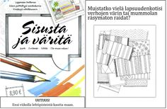 Finally an unique coloring book! Just color the interiors you would like to live in. This cute coloringbook contains also lovely stories behind the pictures and easy information behind the meanings of the colors. Beautiful pictures are drawn by hand an interior designer Satulyyti. Editing riitta Bergman/ idyllicum. Enjoyful and relaxing book <3. Coloring Books, Meant To Be, Beautiful Pictures, Interiors, Live, Colors, Unique, Easy, Design
