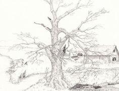 Landscape Drawings In Pencil: