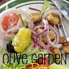 Olive Garden Salad Dressing ½ 	C. mayonnaise ⅓ 	C. white vinegar 1 	tsp. vegetable oil 2 	Tbsp. corn syrup 2 	Tbsp. Parmesan cheese 2 	Tbsp. Romano cheese ¼ 	tsp. garlic salt ½ 	tsp. Italian seasoning ½ 	tsp. parsley flakes 1 	Tbsp. lemon juice